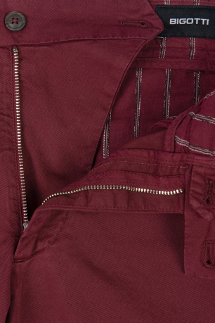 Regular Burgundy Plain Trouser