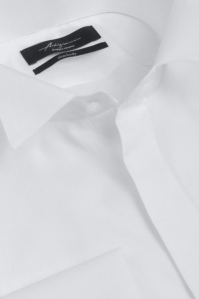 Slim White Plain Shirt 1