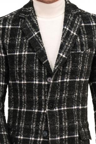 Black Check Coat