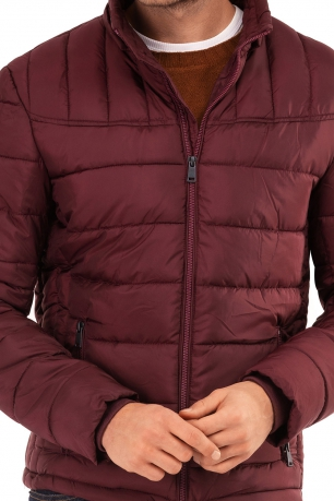 Burgundy Plain Jacket