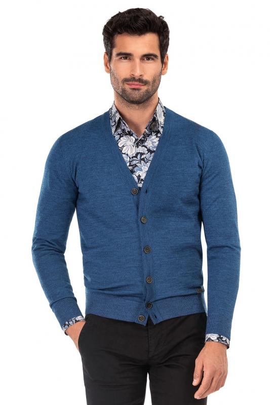 Slim Blue Sweater