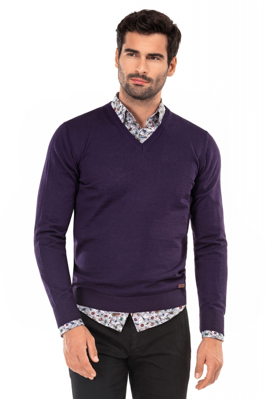 Slim Purple Sweater