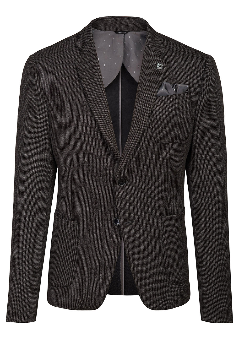 Slim Grey Plain Blazer 4