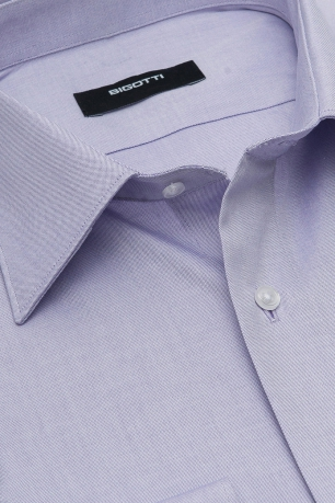 Shaped Purple Plain Shirt