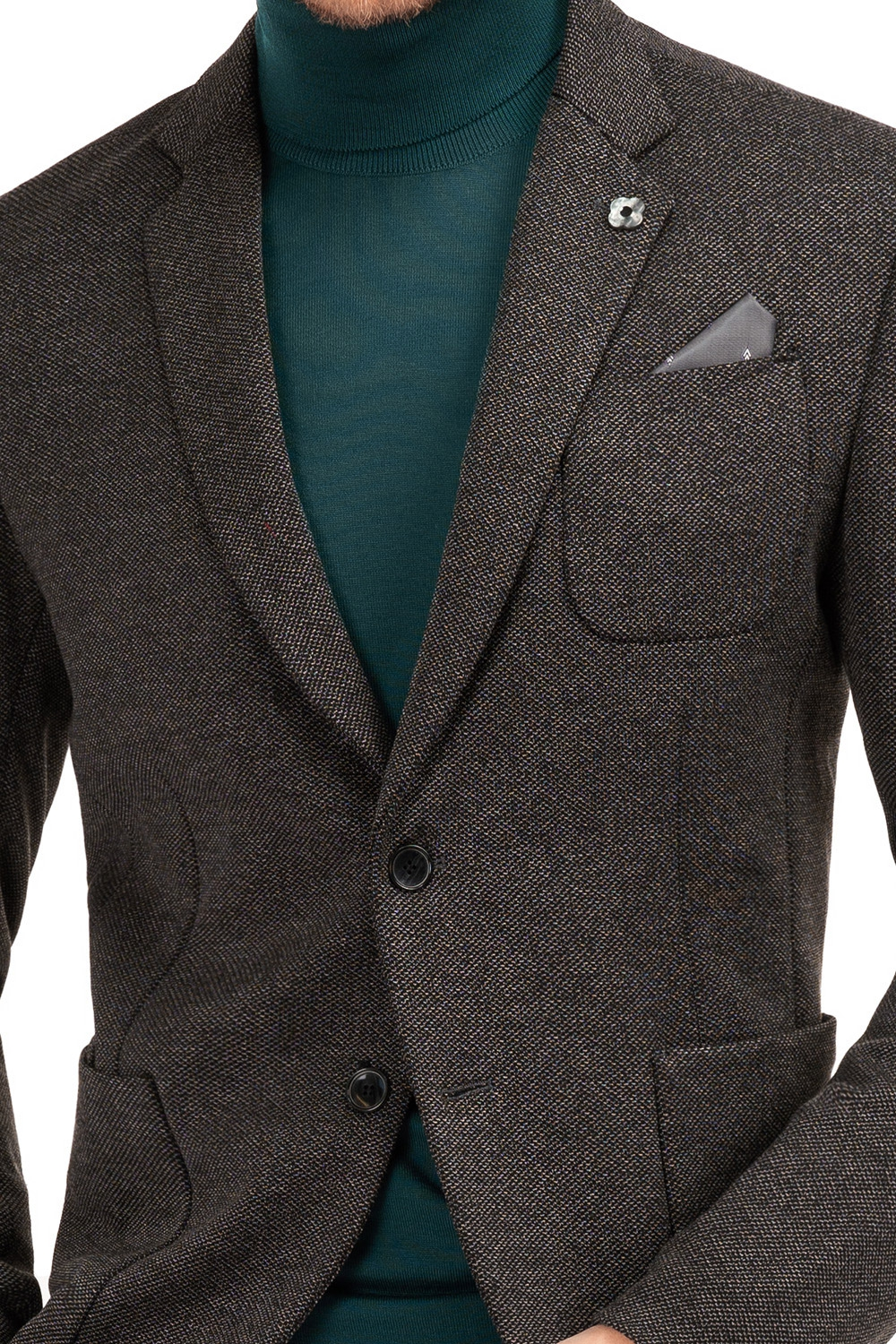 Slim Grey Plain Blazer 1