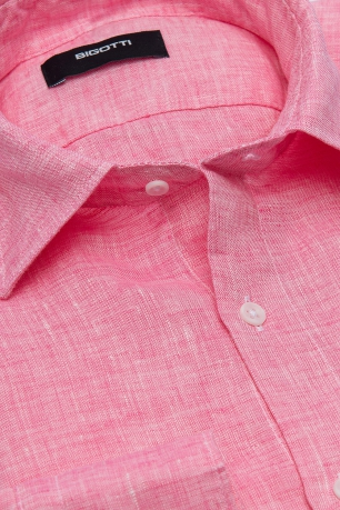 Superslim Pink Plain Shirt