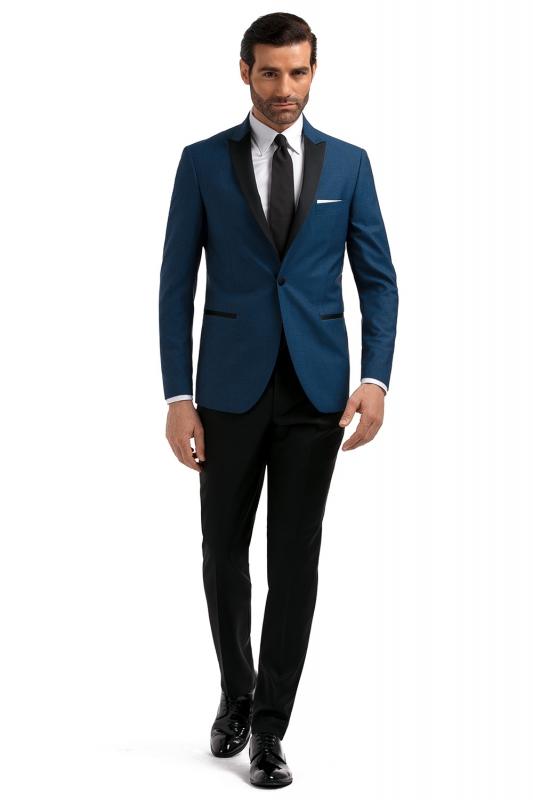 Albastru Plain Blazer