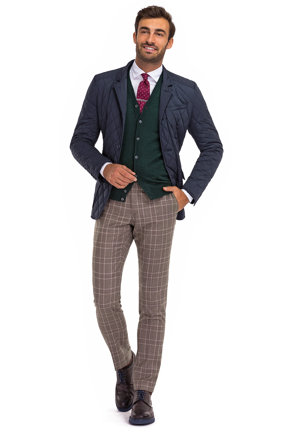 Superslim Grey Check Trouser 0