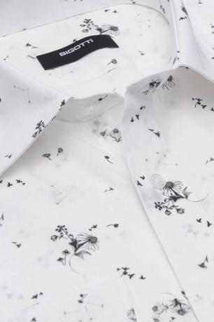 White Floral Shirt